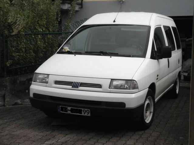 Weißer Fiat Scudo Combinato 2.0 JTD 8V (ähnl. Peug. Expert, Cit. Jumpy) HU 05/14