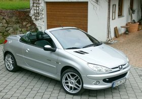 """Peugeot 206 CC 110 Quiksilver - 17"""" BBS Alufelgen - Klimaautomatik"""