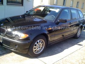 BMW 318d Touring Schwarz Alu KLima