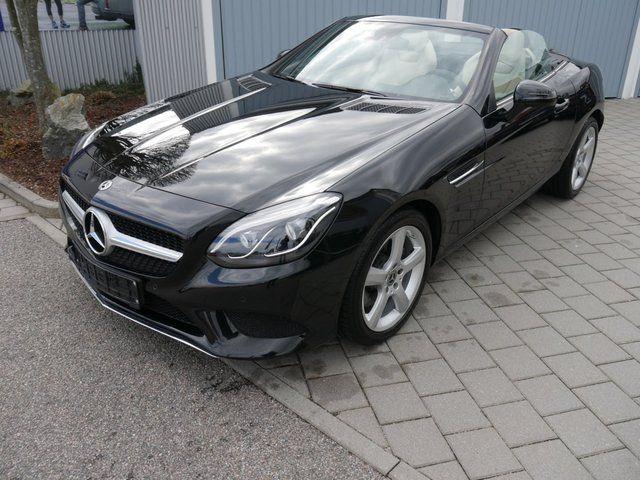 Mercedes-Benz SLC 200 LEDER BEIGE - AIRSCARF - LED SCHEINWERFER - NAVI GARMIN - PARK-ASSISTENT - SHZG
