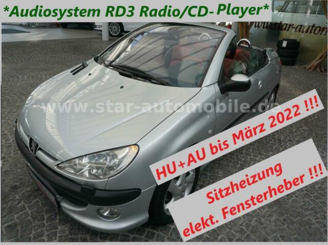 PEUGEOT 206 Cabriolet CC Platinum 1,6-SITZH-KLIMAAUTOM-
