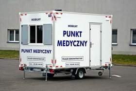 Mobile Sanitätsstation Hofmann Anhänger 1300kgGG 370x210x230cm