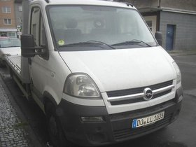 Abschlepp, Autotransporter weiß Opel Movano 3,5 Diesel 2006